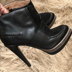 Cole Haan Leather Suede Mixed Bootie (Like New)